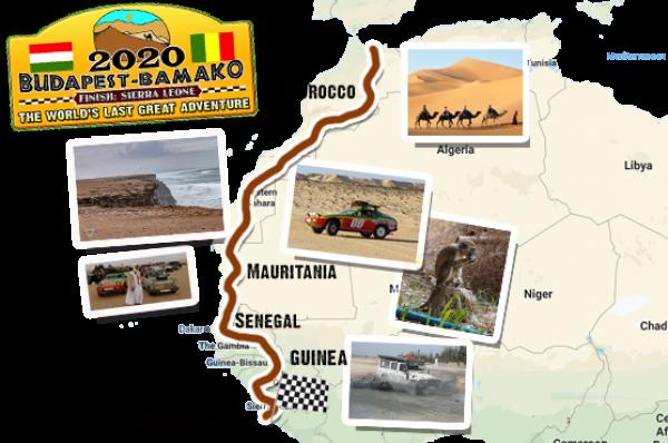Traseul Budapesta-Bamako